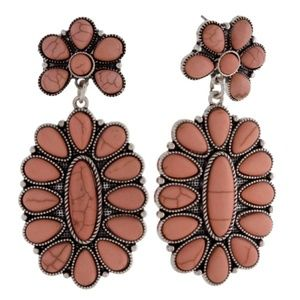 Jewelry - Peach Stone Earrings